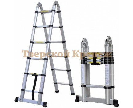 Двухсторонняя телескопическая лестница с шарниром 1.6 м